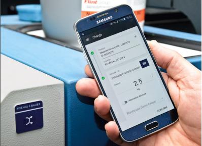 智能手机可通过ProductionApp进行库存管理和批次跟踪